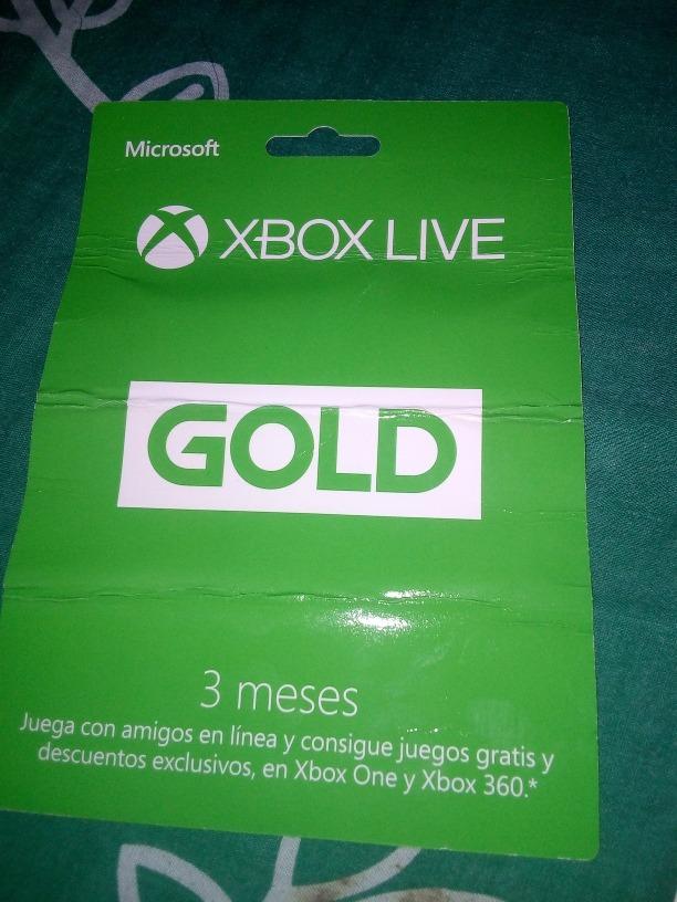 Codigos Xbox Live Gold Nuevo 3 Meses 200 00 En Mercado Libre