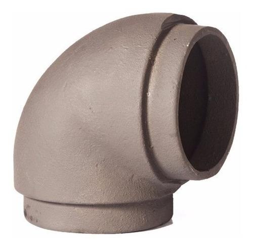 codo de fundición de hierro 90º 4 pulgadas macho/macho