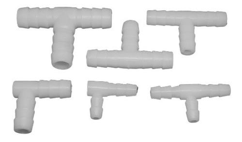 codo plástico doble espiga de 1/4  (10 uni.)