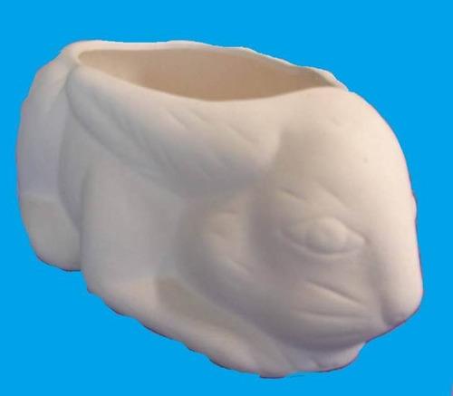 coelho da páscoa porta ovos em cerâmica para artesanato