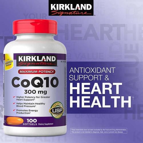 coenzima q-10 q10 q 10 coq10 100 capsulas 300 mg