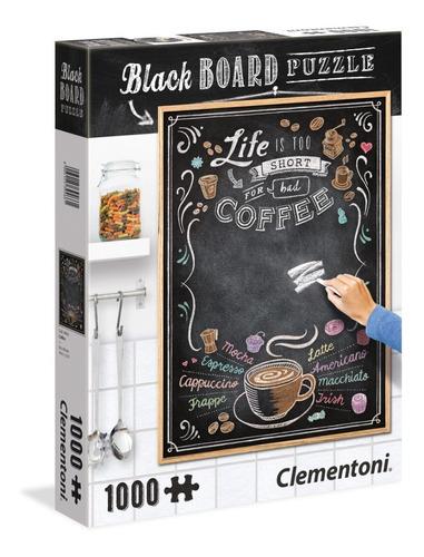 coffee cafe rompecabezas pizarra para gis 1000pz clementoni