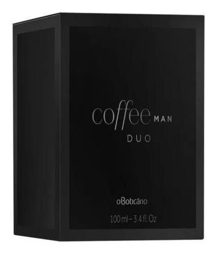 coffee man duo desodorante colônia, 100ml loja o boticário