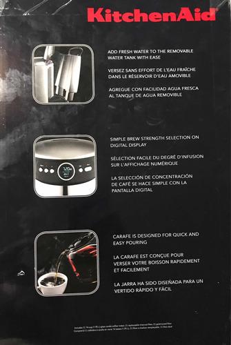 coffeemaker kitchenaid completamente nuevo