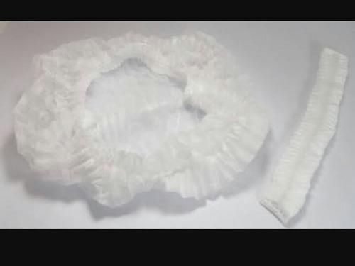 cofia plisada blanca pq/100 piezas