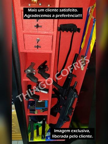 cofre 130 3 a 4 armas longas -aprovação  cr / cac