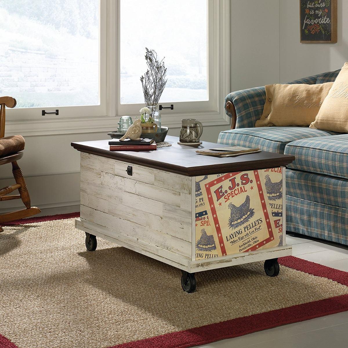 Contemporáneo Manta Muebles Cofres De Almacenamiento Ornamento ...