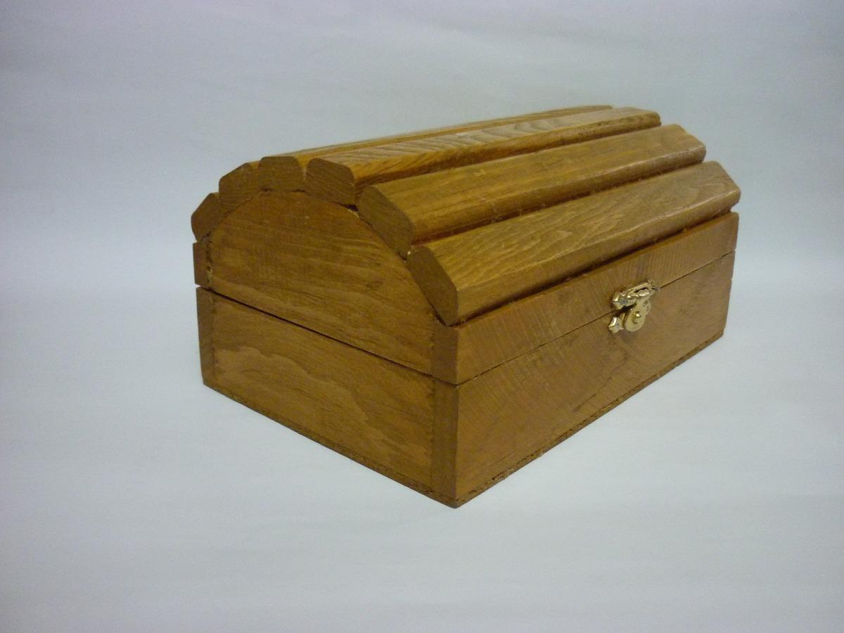 cofre baul alhajero recuerdo para decorar de madera 60