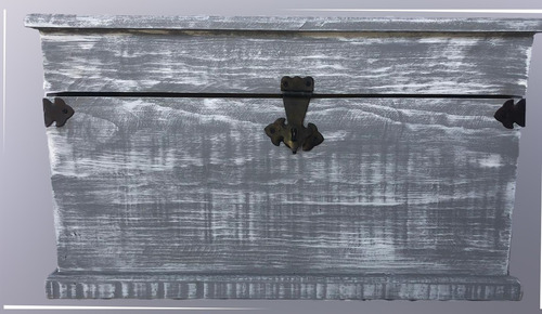 cofre baul madera pino vintage pie de cama colores 70x40cm