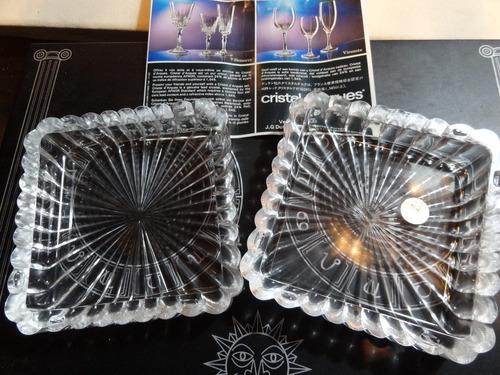 cofre caja adorno cristal de arques frances original nuevo