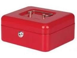 cofre caja de seguridad  8 cash box con llave