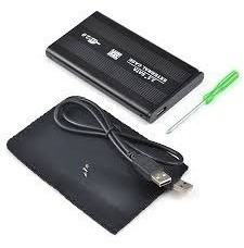 cofre case usb 2.0 disco rígido hd 2.5  sata de notebook