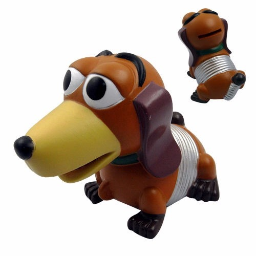 cofre cofrinho cachorro mola slinky 10 cms toy story r 49 99 em
