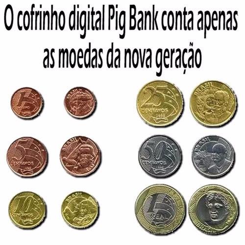 cofre cofrinho porco ou cachorro  digital maravilhoso