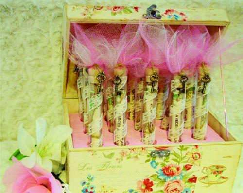 cofre con pergaminos para ceremonia de velas 15 años