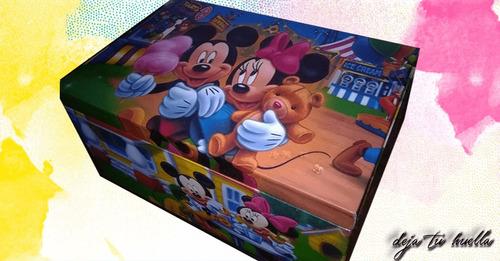 cofre de madera multiuso personalizada
