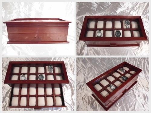 cofre de madera para guardar relojes-regalo empresarial