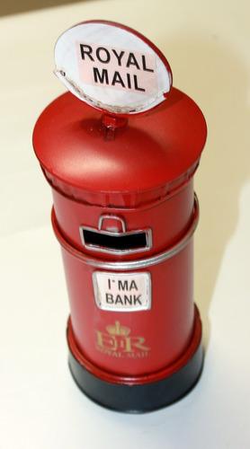 cofre de moedas em metal miniatura caixa de cartas londres