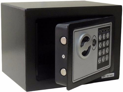 Cofre Eletrônico Digital Aço Teclado Senha + Chaves - R
