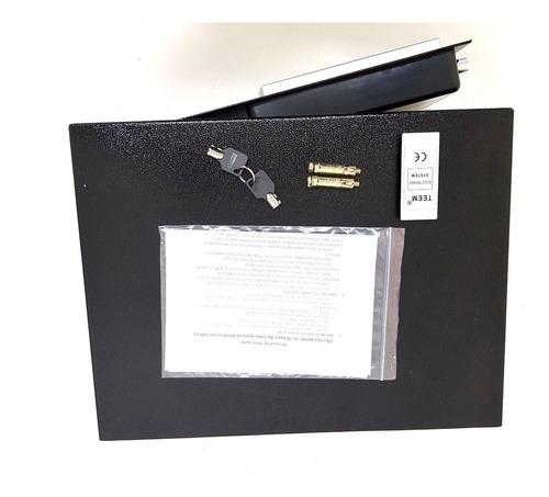cofre eletrônico digital preto grande notebook teem 43eda