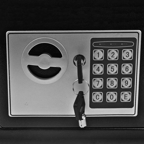 cofre eletrônico teclado senha+chave sb17 frete full