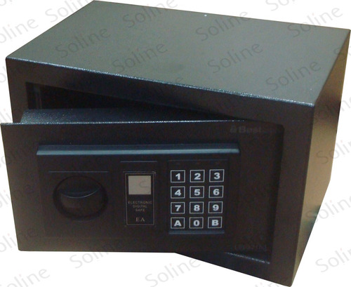cofre eletronico digital aço c/trava + 2 chaves segurança