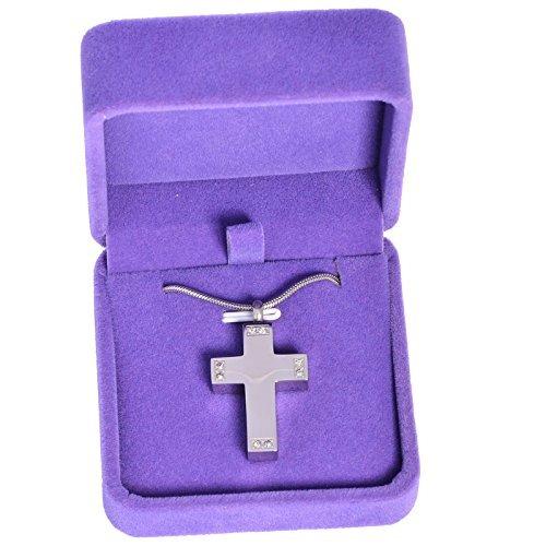 cofre etcetera fashion ii collar de urnas cruz de cremacion,