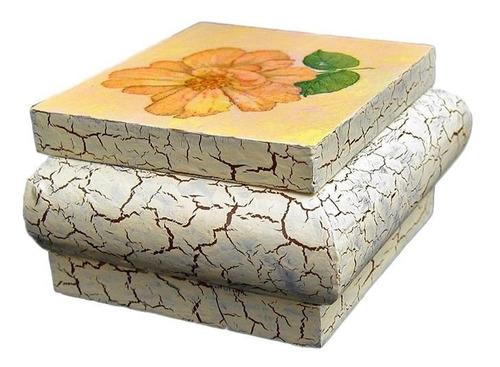 cofre grande de madera craquelado aplicación de servilleta
