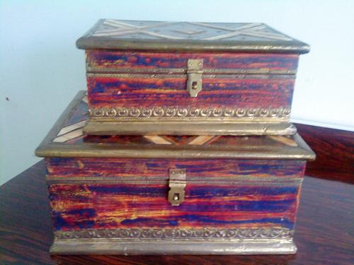 cofre hindu de madera pequeño 15x10x10 loligo varios