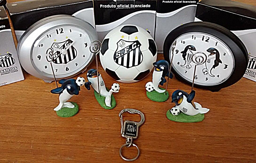 cofre mascote chaveiro e despertador santos futebol clube. Carregando zoom. e0060955f1860
