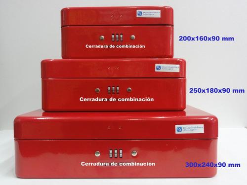 cofre portavalores c/cerradura de combinacion 200x160x90 mm
