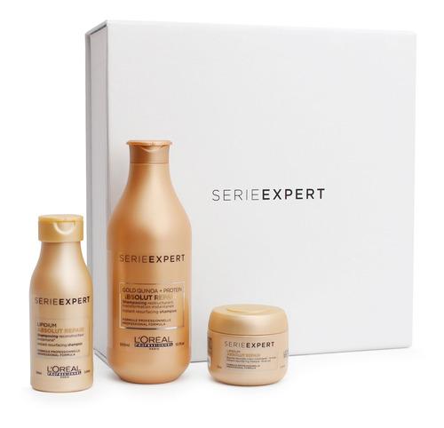 cofre shampoo 300 ml+ travel sizes absolut repair loreal pro