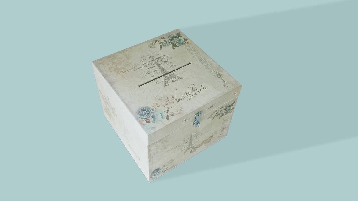 6ab4f118d Cofre Urna Madera Casamiento/boda 30x30x25 Diseño A Elección