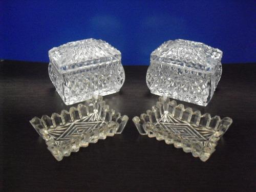 cofre y adornos de cristal rcr y cristal d'arques
