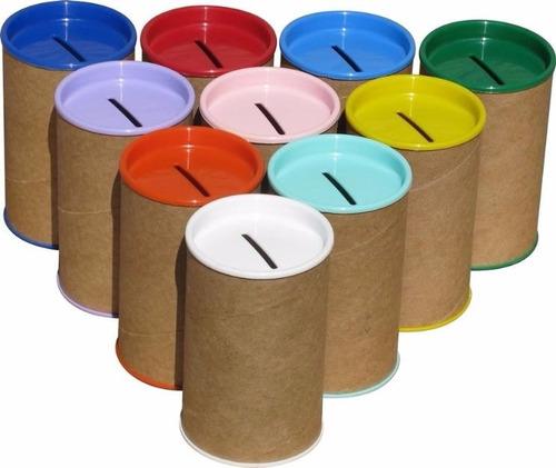 cofrinho de papelão 6x10 tampa varias cores 20 unidades