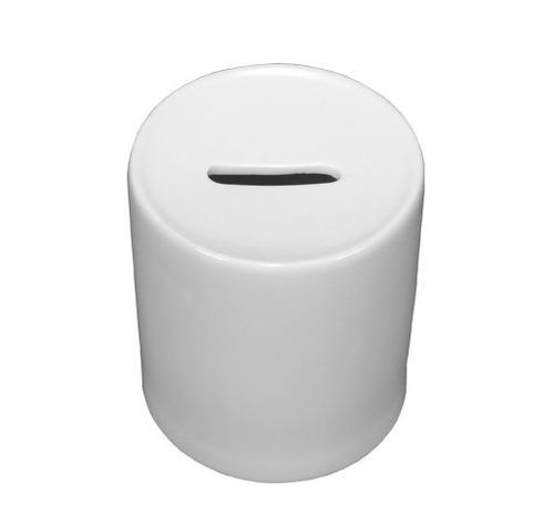 cofrinho de porcelana branca para personalização