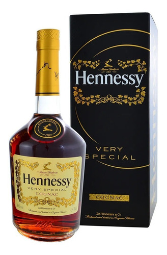 cognac hennessy chandon (botella) 100 % original