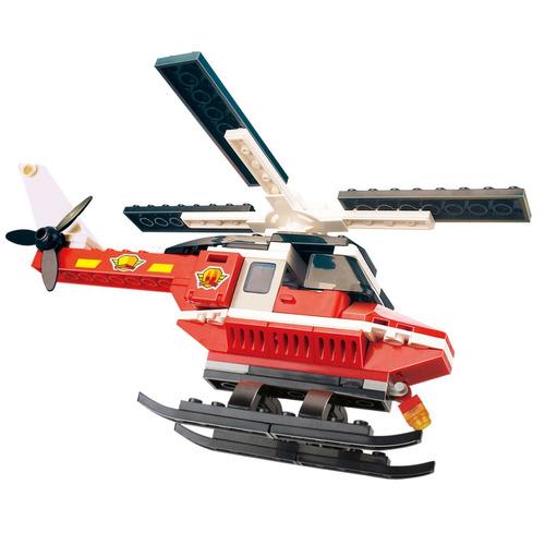 cogo 81pcs fuego helicóptero de bricolaje bloques de constr