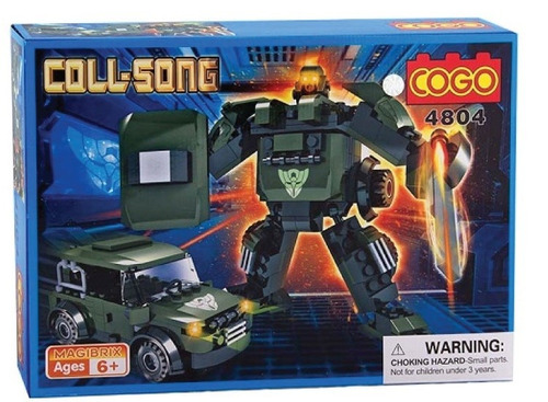 cogo robot transformable jeep militar 165 pzs compatibe lego