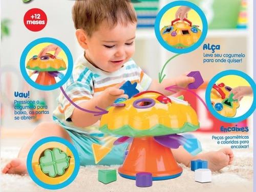 cogumelo pedagógico educativo divertoys brinquedos bebes