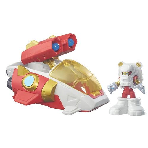 cohete con figura de iron man playskool heroes aventuras