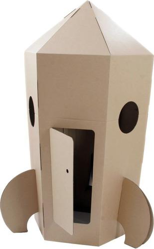 cohete de carton para niños armable