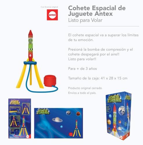 cohete espacial aire comprimido vuela antex casa valente