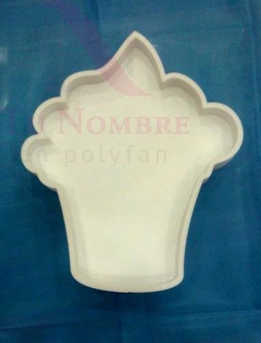 cohete letras huecas 20 cm figuras rellenar candy polyfan