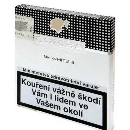 cohiba mini white pack x50 habano habanos cigarros suaves