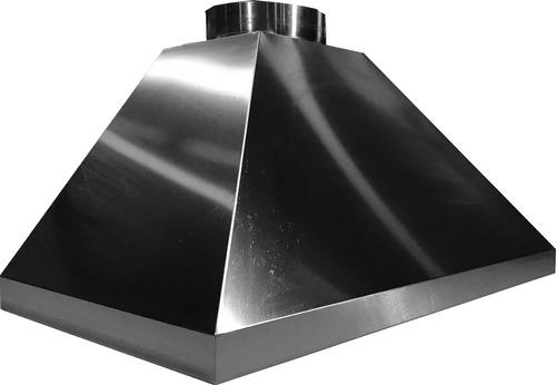 coifa 3 águas inox p/ churrasqueira lateral de vidro
