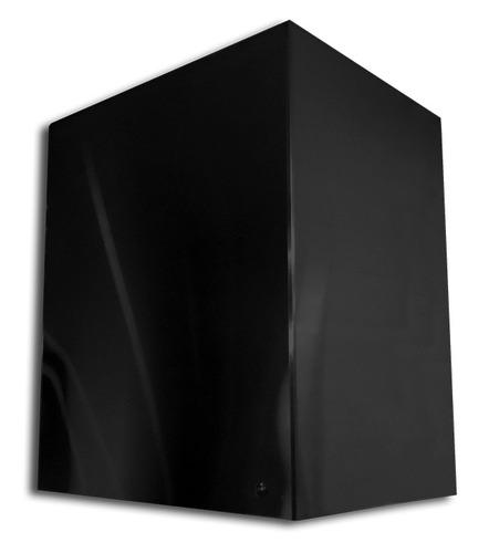 coifa box preta 80 cm + grill completo + braseiro 60 cm