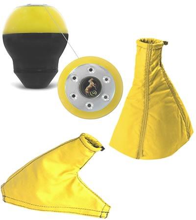 coifa cambio bola e freio amarela strada cabine estendida/