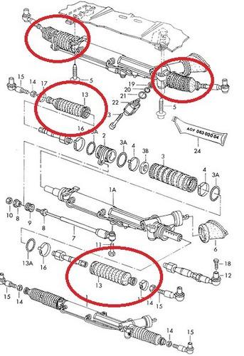 coifa da caixa de direção audi a4 2.4 v6 1995 a 2001