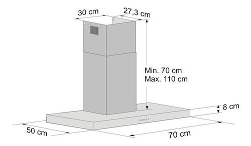 coifa de parede tradition line 70cm fischer 127v cinza gc